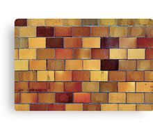 Gym Wall Tiles Canvas Print