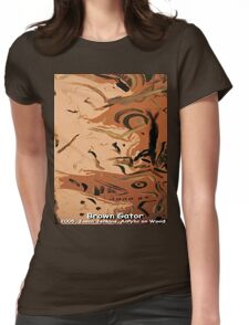 BROWN GATOR Womens Fitted T-Shirt