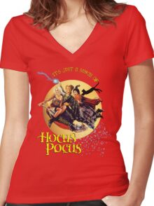 It's just a bunch of Hocus Pocus Women's Fitted V-Neck T-Shirt