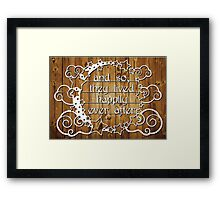 And so, they lived happily ever after - Natural Framed Print