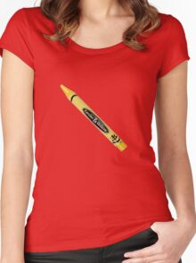 Buffy the Vampire Slayer - Yellow Crayon Women's Fitted Scoop T-Shirt