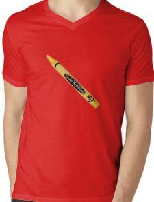 Buffy the Vampire Slayer - Yellow Crayon Mens V-Neck T-Shirt