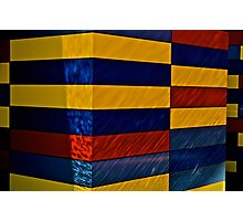 Floating blocks Photographic Print