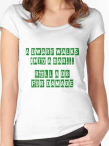 A Dwarf walks into a bar... Women's Fitted Scoop T-Shirt