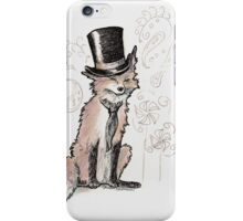 Mr. Fancy Fox iPhone Case/Skin