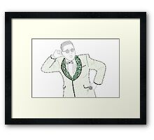 PSY GANGNAMSTYLE PROTRAITURE (MADE FROM LYRICS&QUOTES) Framed Print