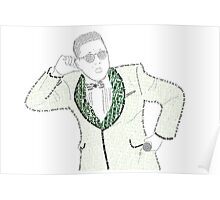 PSY GANGNAMSTYLE PROTRAITURE (MADE FROM LYRICS&QUOTES) Poster