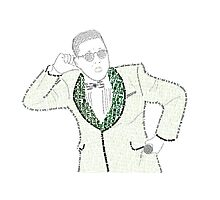 PSY GANGNAMSTYLE PROTRAITURE (MADE FROM LYRICS&QUOTES) Photographic Print
