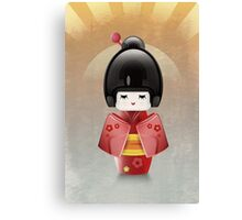 Kokeshi in Red Canvas Print