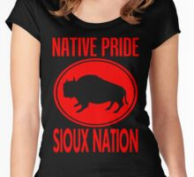 NATIVE PRIDE-SIOUX NATION Women's Fitted Scoop T-Shirt