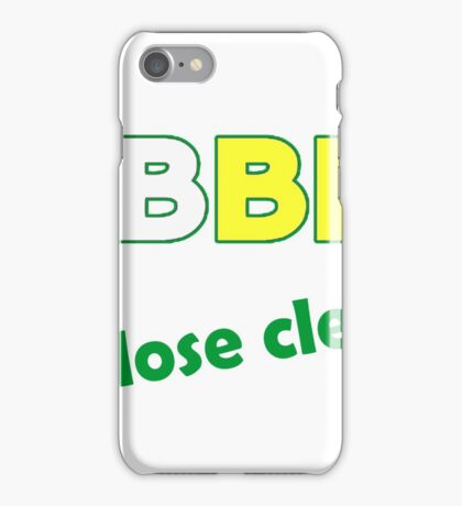 Jobber - lose clean. iPhone Case/Skin