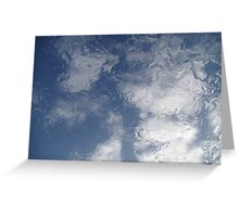 Raining on the Velux window Greeting Card