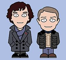Sherlock and John mini people (card/notebook) by redscharlach