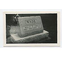 Will & Cora Wade  Photographic Print