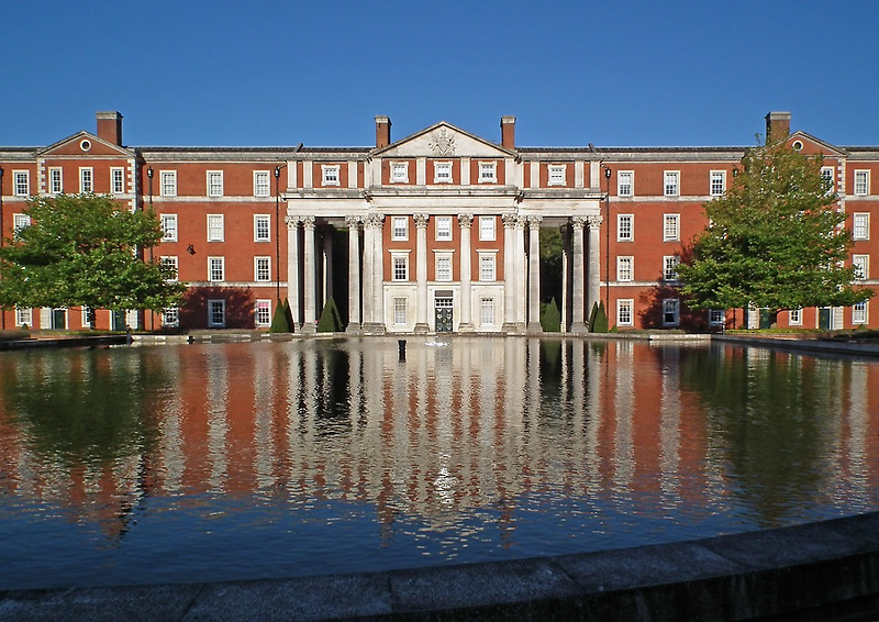 Central portico, The King's House, Peninsula Barracks, Winchester, southern England by Philip Mitchell