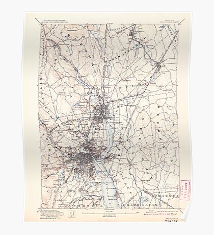 Massachusetts  USGS Historical Topo Map MA Providence 352971 1894 62500 Poster