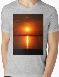 Sun set , Mens V-Neck T-Shirt