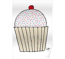 Sweet Strawberry Cupcake Poster