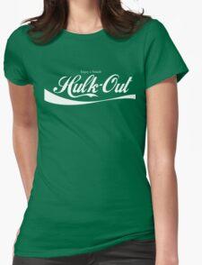 Enjoy Smash, Hulk-Out Logo Womens Fitted T-Shirt