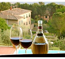 Chianti for two Photographic Print