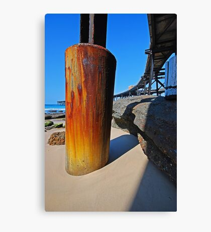 Historic Rusty Long Wharf, Catherine Hill Bay Canvas Print