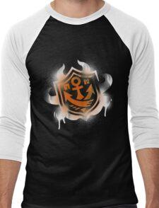 Splatoon Inspired: Graffiti Ranked Battle Icon(White) Men's Baseball ¾ T-Shirt