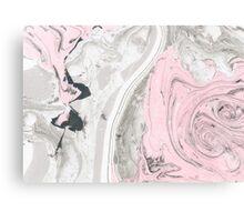 Suminagashi Love, Gray and Pink Canvas Print