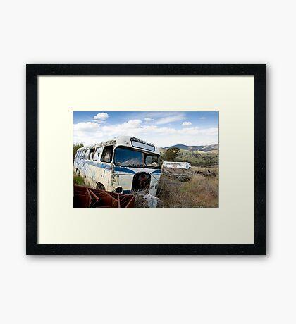 Graveyard of Buses #1 Framed Print