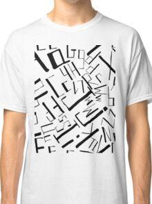 Hand drawn black alphabet. Doodle pattern of typographic symbols Classic T-Shirt