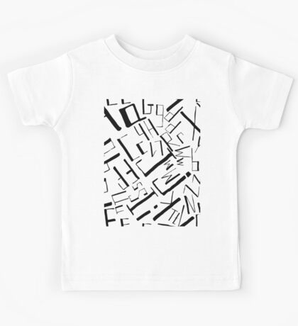 Hand drawn black alphabet. Doodle pattern of typographic symbols Kids Tee