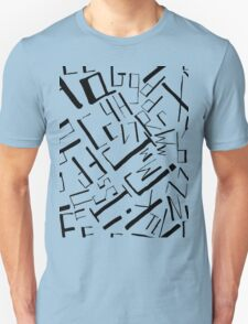 Hand drawn black alphabet. Doodle pattern of typographic symbols Unisex T-Shirt