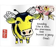Cow Bee Poster