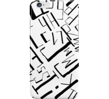 Hand drawn black alphabet. Doodle pattern of typographic symbols iPhone Case/Skin