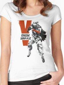 MGSV Retro Venom Snake Women's Fitted Scoop T-Shirt