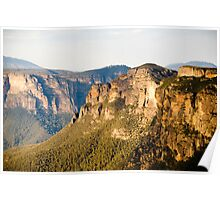 The cliffs of the Blue Mountains Poster