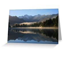 """""""misty matheson""""   fox glacier, south westland nz Greeting Card"""