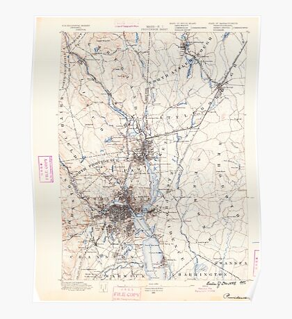 Massachusetts  USGS Historical Topo Map MA Providence 352967 1889 62500 Poster