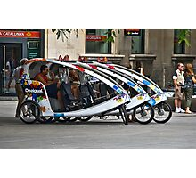 Taxi anybody!!! Barcalona  Photographic Print