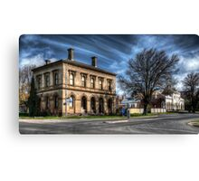 Post Office and Town Hall (Colour) - Clunes Canvas Print
