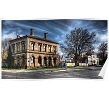 Post Office and Town Hall (Colour) - Clunes Poster