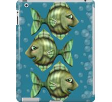 Angie with bubbles on blue iPad Case/Skin