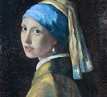 Girl With a Pearl Earring Rendition by mdaudin