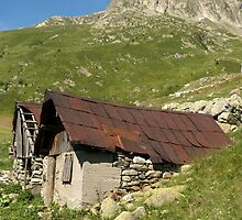 Mountain Chalet Refuge - Col du Glandon, France by Philip  Pleass