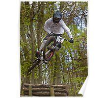 Downhill Mountain Biker Poster