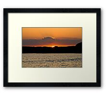 Sunsetting at Kimmeridge bay Framed Print