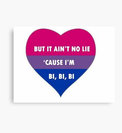 Bisexual/Biromantic Slogan Canvas Print