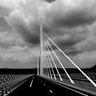 Millau Viaduct with bad weather sky by bubblehex08