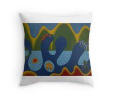 Lacertidae Elemental Dragon Throw Pillow