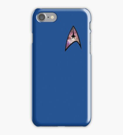 Cosmic Star Trek Insignia in Blue iPhone Case/Skin