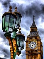 Big Ben and Lamp - HDR  by Colin  Williams Photography
